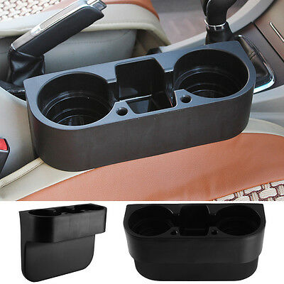 Universal Black Cup Holder Car Van Storage Drinking Bottle Can Mug Mount Stand