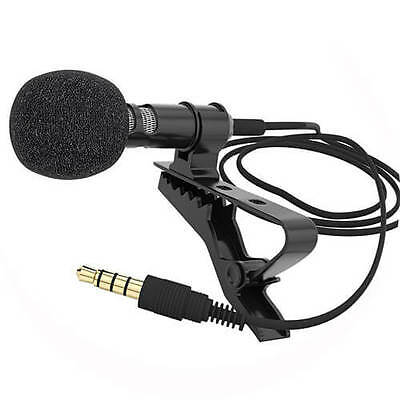 Small Clip-on Lapel Mini Lavalier Mic Microphone for Phone Recording PC UK
