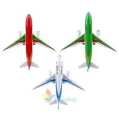 Childrens Alloy Plane Aeroplane Model Toy Christams Stocking Filler With Light A