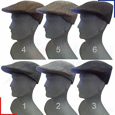 Mens Baker Boy Peaked NewsBoy Herringbone Outdoors Hat Retro Flat Cap Unisex