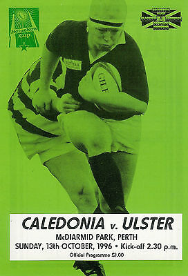 CaledoniavUlster - European Cup 13 Oct 1996 RUGBY PROGRAMME