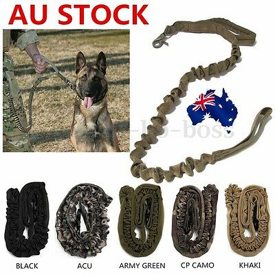 AU Tactical Dog Training Leash Bungee Canine Miltary Release Tactical Leads belt