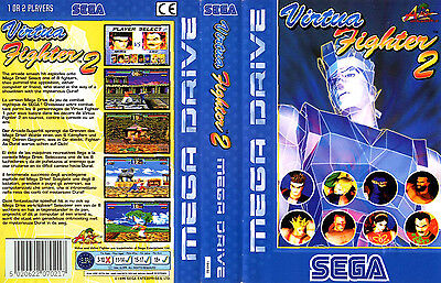 Virtua Fighter 2 Sega Mega Drive PAL Replacement Box Art Case Insert Cover Scan
