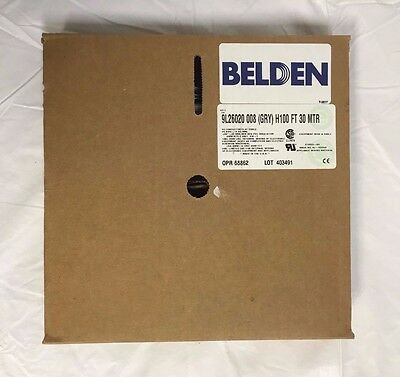 43' Belden 9L26020 008 Flat Ribbon Equipment Wire Cable Gray 20 Conductor 26AWG