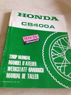 Honda CB400A CB400 A Hondamatic  revue technique moto workshop service Manuel