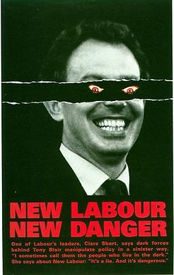 1997 Conservative anti Tony Blair New Labour Election  Poster A3/A2 Print