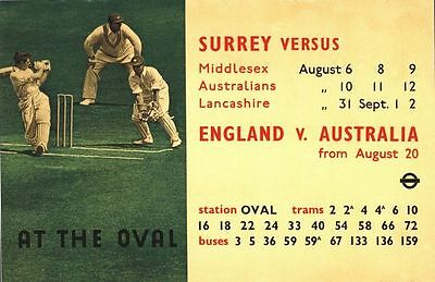 1939 England vs West Indies Cricket at The Oval Poster A3//A2//A1 Print