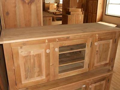 Antique Amish Furniture Handmade Unfinished Reclaimed Barn Wood Tv Cabinet Stand