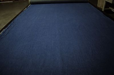 "Vintage Blue Indigo Washed Soft Upholstery Cotton Denim Fabric 61""W Canvas Duck"