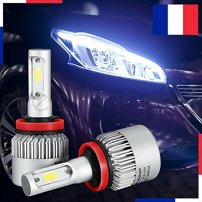 Lampe Led Phare Voiture Feux Xenon Blanc Headlight 72W 6000K H3 2 Pcs