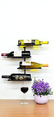 Superiore Livello Pisa 4 Bottle Wall Mounted Wine Rack. Industrial Style Living