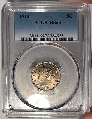 1910 5c PCGS MS 65 Liberty Nickel