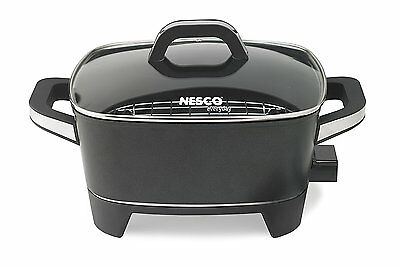 Nesco Electric Skillet Extra Deep 12-Inch Black