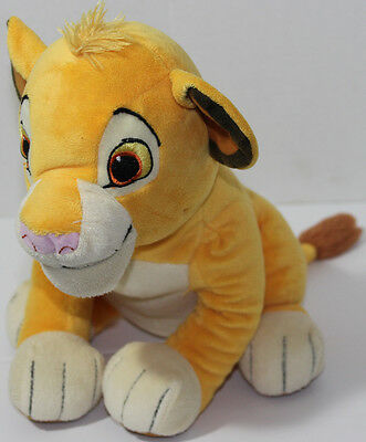Disney THE LION KING SIMBA CUB Medium Sized STUFFED PLUSH ANIMAL Soft Toy CUTE