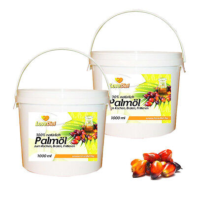 LoveDiet Palm Oil, Palmöl 2erPack(2x1000ml) + Bonus Baking Soda 250g