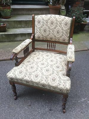 Edwardian Mahogany Framed Upholstered Bedroom Chair