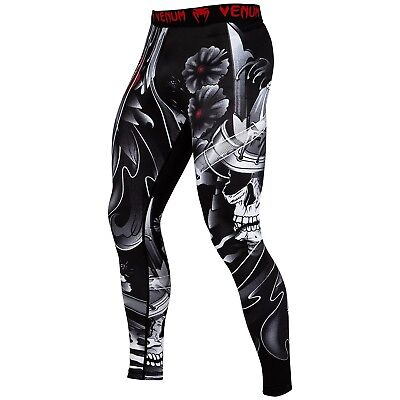 Venum Spats Samurai Skull MMA BJJ Muay Thai Fitness Training Kompression S-2XL