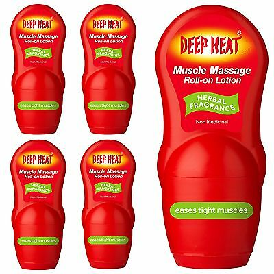 Deep Heat Muscle Heat Pain Relief Roll On Lotion Dual Action Message Therapy