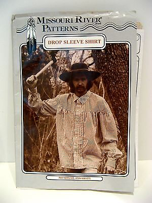 FRONTIER era DROP SLEEVE SHIRT by MISSOURI RIVER PATTERNS - COMPLETE & UNCUT EXC