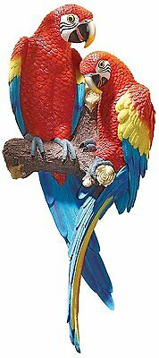 Scarlet Macaw Exotic Birds Tropical Bird Parrot Island Margaritaville Decor Art