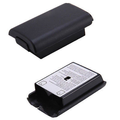 2x Black Battery Pack Cover Shell Case For Xbox 360 Slim Wireless Controller