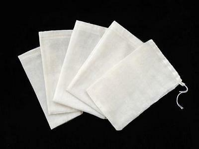 "100 PCS 4""x6"" Cotton Muslin Drawstring Reusable Bags Packing Bath Soap Herbs Tea"