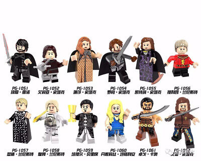 12Pcs/Set New Game of Thrones Building Block Mini Custom Figures Block Toys
