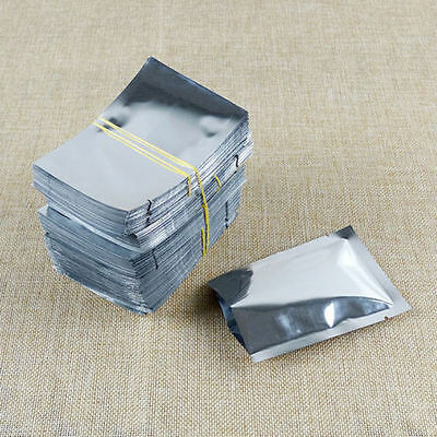 2 Of 4 100 500pcs 7x10cm Aluminum Foil Mylar Bags Heat Seal Vacuum Food Storage Pouch