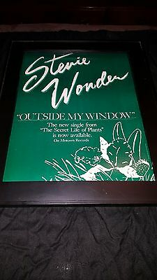 Stevie Wonder Outside My Window Rare Original Promo Poster Ad Framed!