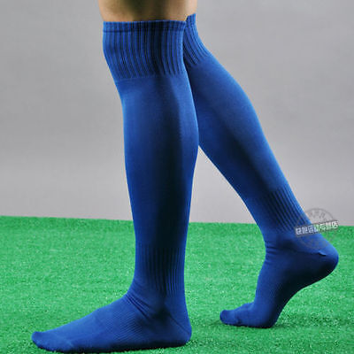 Mens Sport football Soccer plain Long Socks Over Knee High Sock Baseball Hockey