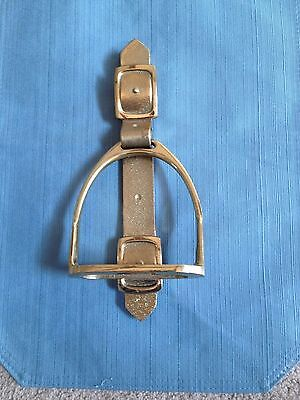 "11"" Door Knocker Saddle Stirrup  Cast Metal/Brass"