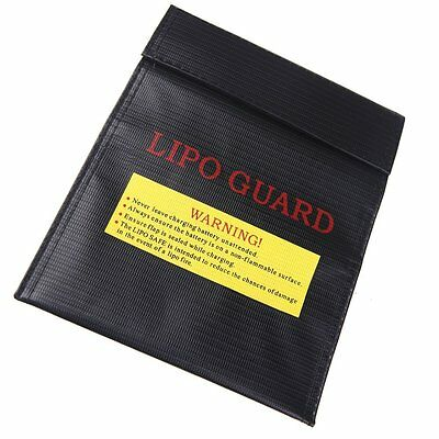 Rc Lipo Battery Safety Bag Safe Guard Charge Sack 23X18 Cm Black T8Y8