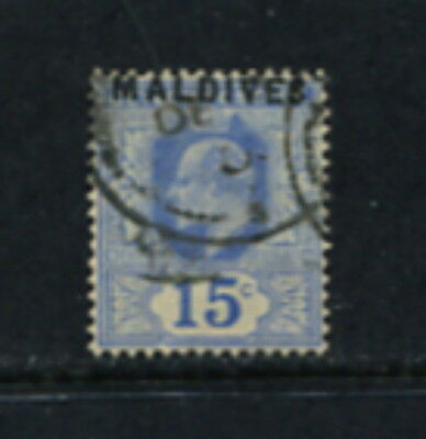 Maldives  1906  #5  Edward VII  OVERPRINTED     1v.  used  F844