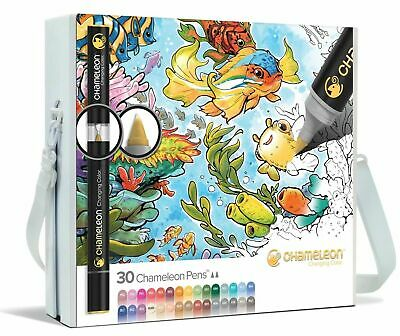 CHAMELEON DELUXE SET 30 Color Tones Colour Changing Ink Pens Professional Set