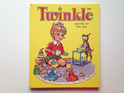 1981 Twinkle specially for little girls - Annual - Retro Book - Collectible