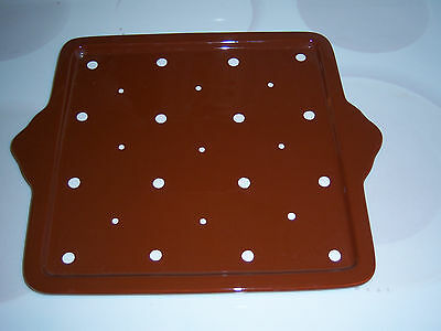 Temp-Tations Polka Dot serving tray ovenware
