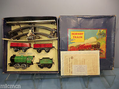 "VINTAGE HORNBY ""0""GAUGE MODEL  No.MO  ""GOODS""  TRAIN SET   VN MIB"