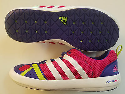 New Adidas Climacool Boat Lace Shoe Paddle Board Boating Watershoe Men 9 Berry