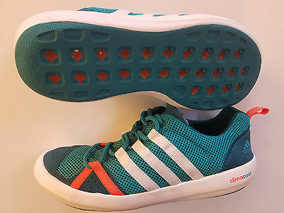 New Adidas Climacool Boat Lace Shoe Paddle Board Boating Watershoe Men 9 Teal