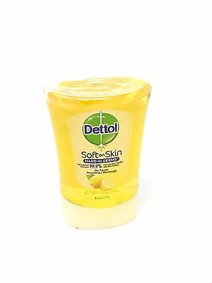 4 x Dettol No Touch Soft On Skin Citrus Handwash Refill 250ml