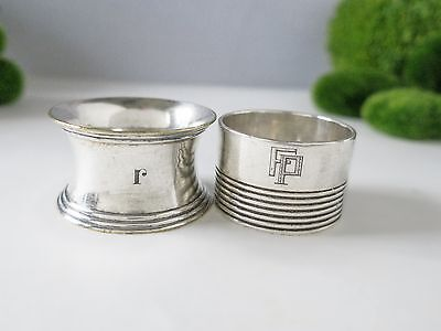 Christofle Silver Plate Napkin Rings 2 Art Deco Circa 1935 France