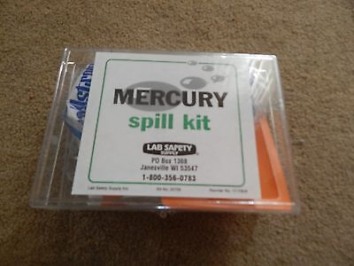 LAB SAFETY SUPPLY Mercury Spill Clean Up Kit 20759 NEW FREE SHIPPING