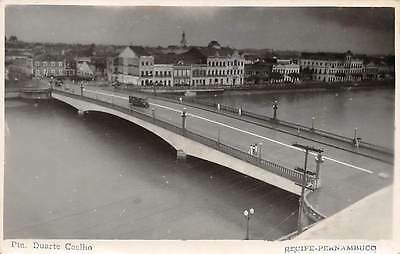 RECIFE, PERNAMBUCO, BRAZIL ~ DUARTE COELHO BRIDGE, REAL PHOTO PC ~ used 1947