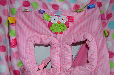Taggies Seat Highchair Grocery Cart Cover Infant Girl Pink Owl