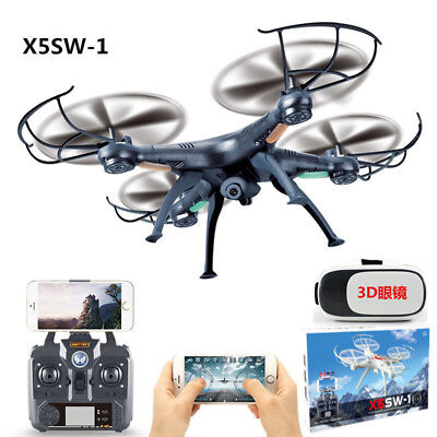 New Black FPV Camera Quadcopter Drone RC WIFI Control 6 CH Headless Mode 2.4Ghz