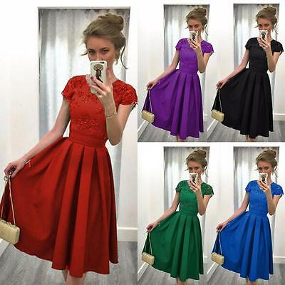 2017 New Women Formal Lace Dress Evening Party Cocktail Bridesmaid Wedding Dress