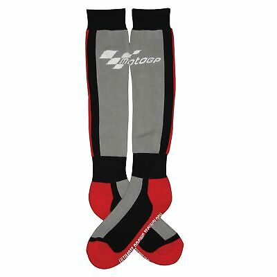 MotoGP Motorcycle / Bike / Riding Boot Socks In Black / Grey / Red - One Size