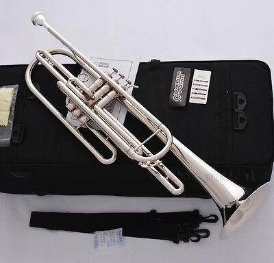 Professional Silver nickel Bb Bass Trumpet 3 Piston Vavles JINBAO Horn With Case