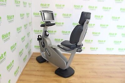 Technogym Excite 700e Recline Bike LCD Commercial Gym Equipment