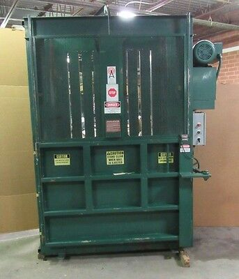 """Accurate Compactor Vertical Waste Cardboard Baler 60"""" 5' Single Phase  230V 10Hp"""